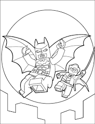 Lego Batman Coloring Page The Hellokids