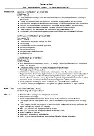 Test Engineer Resume Objective Software Tester Sample Resumes Zrom Tk Automation Test Engineer