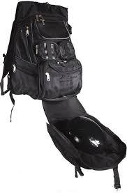 motorcycle backpack with helmet holder