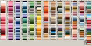 Exquisite Thread Color Chart 50 Unmistakable Anchor To Dmc Thread Conversion