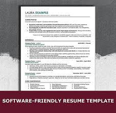 Modern Sleek Resume Templates Ats Friendly Resume Template 1 Launchpoint Resume