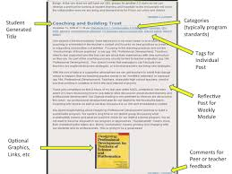 bportfolios blogging for reflective practice online learning  bportfolio example 1