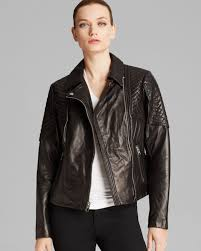 lyst michael kors jacket missy leather quilted moto in black