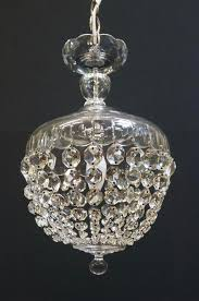 crystal basket chandelier