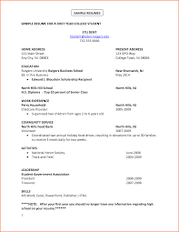 How To Write A Student Resume For College Internship Current Good