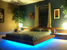 modern platform bed with lights. Zac Platform Bed Modern With Lights L