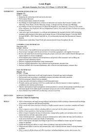 Gas Resume Samples Velvet Jobs