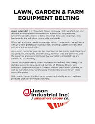 Mtd Belt Conversion Chart Belting Jason Industrial Pages 1 50 Text Version