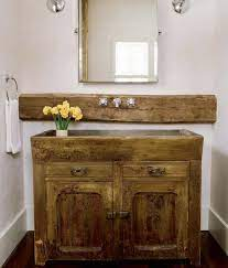 Salvaged Wood Bathroom Vanity Design Ideas