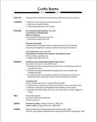 Recent College Graduate Resume 14 Sample Of Template For All Best