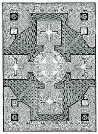 Printable Celtic Cross Coloring Page Pdf Instant Download By