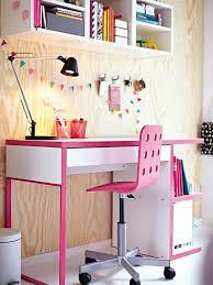 kids desks pink micke