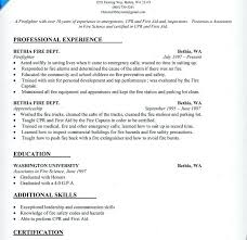 Emt Resume Examples Template All Best Cv Resume Ideas