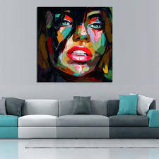 home goods wall art francoise nielly oil painting handmade abstract portrait palette knife art home goods