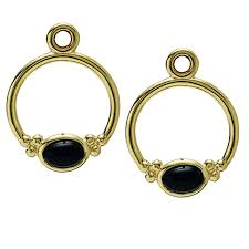 pandora 14k golden horizon with black onyx compose earring charms retired only 2 pairs left pandora necklace for mom pandora princess tiara ring utterly