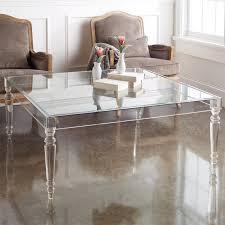 Image of: Acrylic Coffee Table Legs