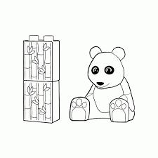 Leuk Voor Kids Pandabeer For Lego Duplo Dieren Kleurplaat Beste