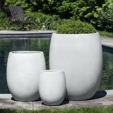 white ceramic planter outdoor planters large in ideas 19