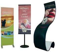 Portable Stands For Display Portable Banner Stands Fabric Triumph Display Group 53