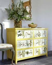 Refinishing Bedroom Furniture Ideas Botanical Dresser 17 DIY Bedroom Furniture Makeover For Minimalists Refinishing Ideas R
