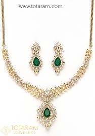18k gold diamond necklace drop earrings set with ruby onyx 235 ds459