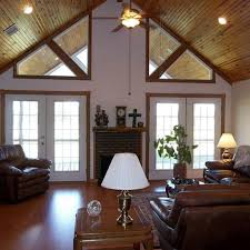 Vaulted Ceiling Living Room Living Room Wooden Roof Selection To Complement Beautify Of