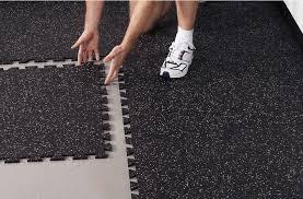 diy rubber floor tiles
