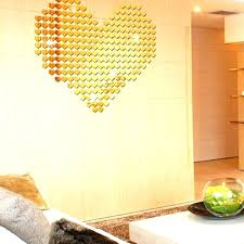 gold wall decals gold heart wall decal heart wall sticker self silver gold wall stickers acrylic gold wall decals