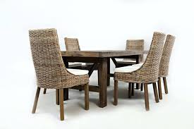 dining tables dining table with rattan chairs in by road trestle four transitional glass