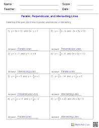 geometry worksheets parallel and perpendicular lines worksheets regarding writing equations of parallel and perpendicular lines