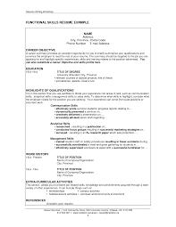 resume samples skills
