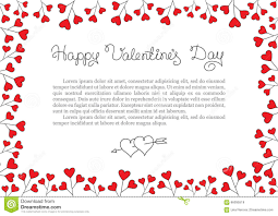 valentines day borders horizontal. Download Valentines Day Background Red Hearts Border Frame Vector Horizontal Stock And Borders Dreamstimecom