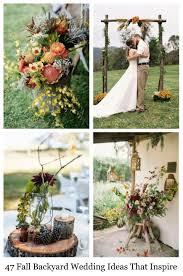 Fall Wedding Ideas For The Ultimate Backyard Barnhouse Country WeddingBackyard Fall Wedding