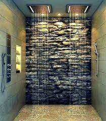 stacked stone shower walls cleaner natural showers veneer faux