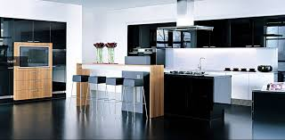 compact office kitchen modern kitchen. Kitchen Modern. Black Square Stools And High Table Placed Near Island In Modern Design Compact Office D
