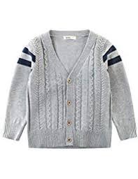 Amazonit Maglione Scollo A V Bambini E Ragazzi Abbigliamento