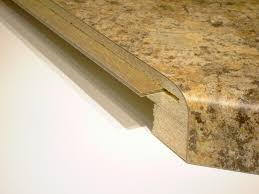 photo of spline placed inside 1 2 of a laminate countertop miter section