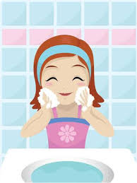 washing face clipart. Perfect Face Little Girl Washing Her Face With Soap Illustration On Washing Face Clipart 123RFcom