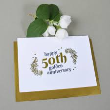 Personalised 50th Wedding Anniversary Gift With Gold By Ant Design