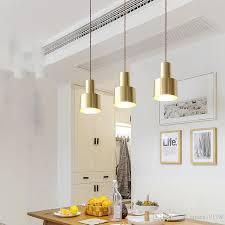 nordic copper brass pendant light led golden pendant lamp modernled light bedroom dinning bar single heads parlor study f017 hanging lamp shade copper
