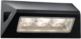 black angled ip44 outdoor led bulkhead light