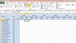 microsoft excel scheduling template labor scheduling template for excel call center version overview