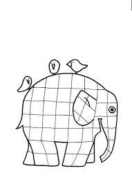 Kleurplaat Vormen En Kleuren Elmar Elefant Elefanten En Elmar