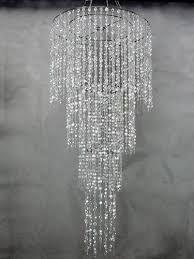 4 tiered chandelier with large diamond cut beads