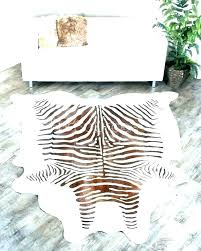 zebra cowhide rug rugs animal print pattern hide faux decor look striped cowh