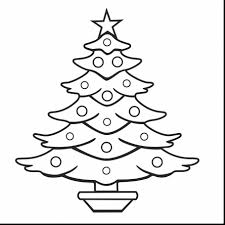 Small Picture Superb christmas tree outline drawing with tree coloring pages