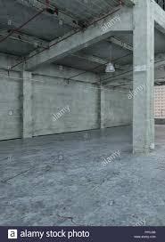 Modern Loft Interior Design Empty Industrial With Bare Grey ...