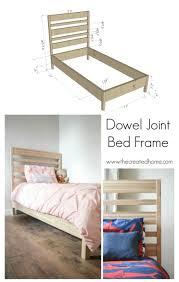 dowel joint bed frame the created home