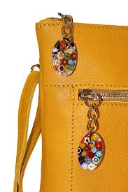 zipper of terrida murano collection leather shoulder bag