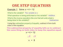 image result for steps to solve one step equations